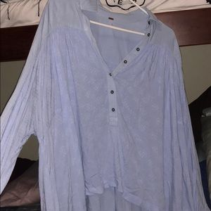 Free people blue button up